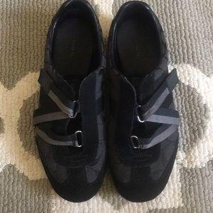 Coach gently used black slip on sneakers.